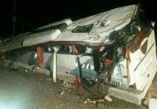خواب آلودگی راننده، مسافران اتوبوس تهران- شیراز را به کام مرگ کشاند