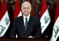 مخالفت رئیس جمهور عراق با هرگونه مداخله خارجی