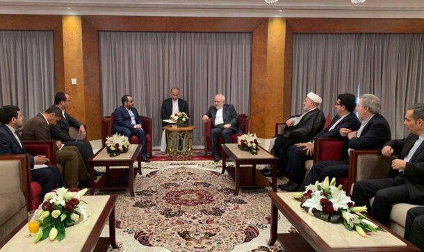 دیدار سخنگوی انصارالله یمن با ظریف