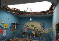سقف مدرسه میناب ریزش نکرده است/ مهتابی با مقداری گچ از سقف افتاده !