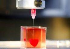 چاپ ۳ بعدی قلب در ابعاد واقعی با مواد شبه بافت قلب