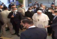 دیدار پاپ فرانسیس با آیتالله سیستانی آغاز شد